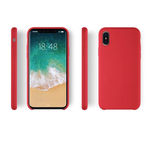 Product Red Silicon iPhone X Case