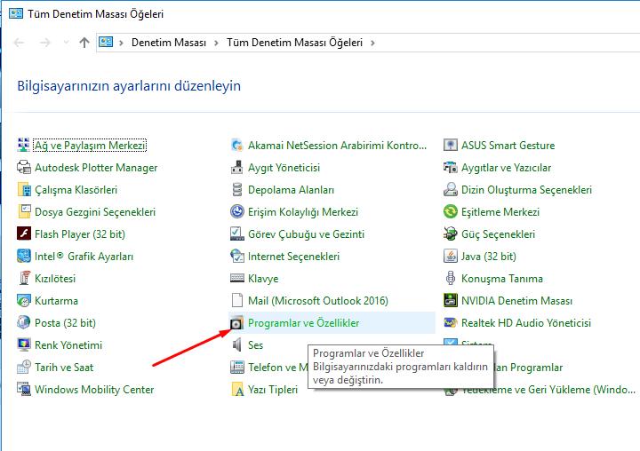 directx özelliğini aktif etme