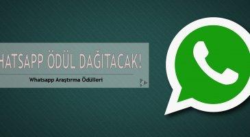 whatsapp araştırma ödülleri