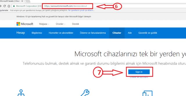 windows 10 cihazın yer tespiti 1